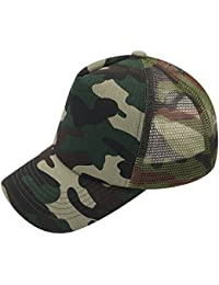 Camouflage Series Unisex Baseball Cap Trucker Mesh Hat Adjustable Snapback