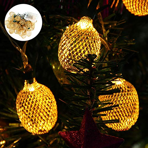 Pineapple String Lights, 200in/5m 40 LED Bulbs Waterproof Battery Operated Lantern String Lights with Battery Box Fairy Lights for Wedding Garden Festival Party Halloween Christmas Indoor & Outdoor by Umiwe (Image #6)