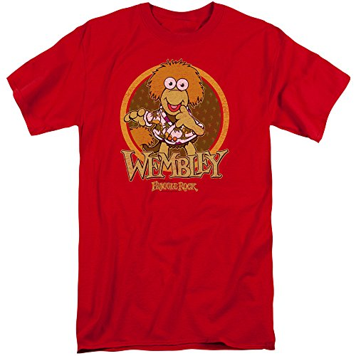 Price comparison product image Fraggle Rock Wembley Circle Mens Big and Tall Shirt Red 2X