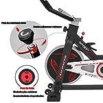 QQLK-Sports-Cyclette-Aerobica-da-Spinning-Allenamento-Indoor-Fitness-Cardio-Spin-Bike-Freno-Silenzioso-Magnetoresistenza-Continua-Sedile-Regolabile-Carico-100Kg