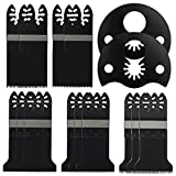 Metal/wood Oscillating Multitool Quick Release Saw Blades,15pcs, for Fein,Black and Decker,Bosch,Craftsman,Chicago,Cougar,DeWalt,Dremel,Porter Cable,Rockwell Hyperlock, and More —Tektree