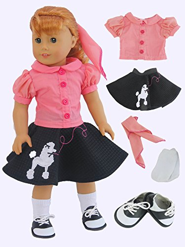 50's Poodle Skirt Outfit | Fits 18