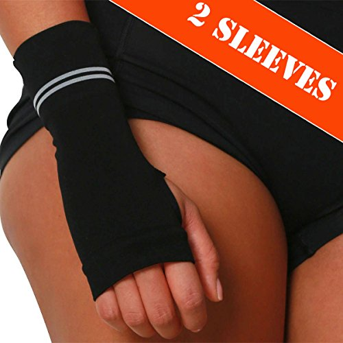 - Compression Wrist Support Sleeve - Relieve Carpel Tunnel, Wrist Pain - Best Wrist Support - Improve Circulation and Support Wrist (Black - 2 Pack, L)