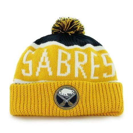 4e2ebcad93616  47 Buffalo Sabres Yellow Cuff Calgary Beanie Hat with Pom - NHL Cuffed  Winter Knit