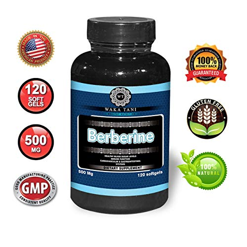 Berberine 500 Mg 120 Caps. Powerful Blood Sugar Supplement. Supports Insulin & Glucose Sensitivity and Metabolism. Helps The Immune System, Fat Burn, Gastrointestinal & Cardiovascular System