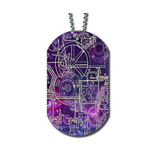 Steampunk Schematics Colorpop - Dog Tag Necklace 3