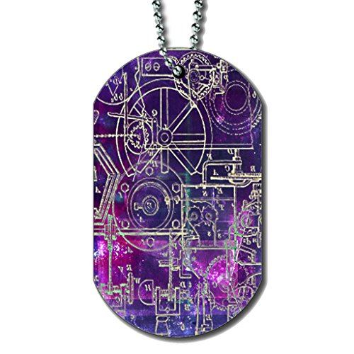 Steampunk Schematics Colorpop – Dog Tag Necklace