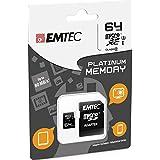 Emtec memory card micro SDXC 64GB class 10 |80MB/45MB/s|+ adapter