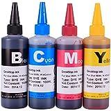 Gigablock 4 color Refill Ink Bottle Set - 4 x 100ml for CIS/CISS or refillable cartridges using Epson Stylus Photo CX7400 CX8400 CX5000 NX400 (Related Cartridge # :T069120, T069220, T069320, T069420)