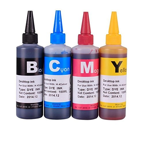 Gigablock 4 color Refill Ink Bottle Set - 4 x 100ml 950/951 for HP Officejet Pro 8100 8600 8610 8620 8630 8640 8660 8615 8625 251 - Time Priority Shipping Mail Usps