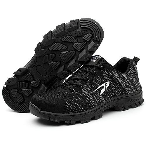 Black Lavoro Unisex in da Scarpe Donna Uomo COOU s3 Comodissime Scarpe Sportive Style di Sicurezza con 4 Punta Scarpe Antinfortunistiche Acciaio Ax8TxqwRC