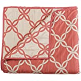 Stylemaster Home Products Renaissance Home Fashion Belmont Cubrecama reversible, color Coral, Individual/Twin