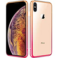 Sankmi 6.5inch 2018 iPhone Xs Max TPU Bumper Shockproof Protective Case (YellowPink)