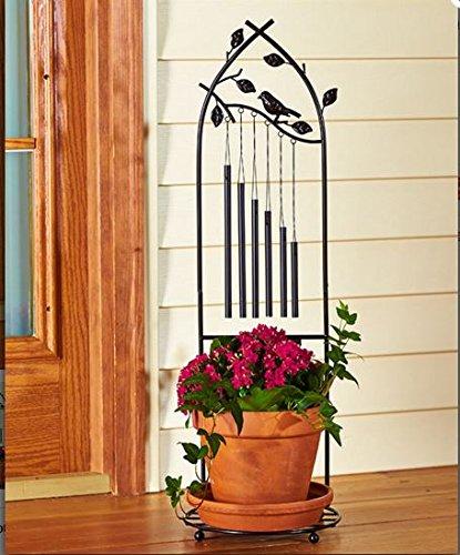 Standing Wind Chime Outdoor Deco Garden Patio Deck Backyard Flower Plant