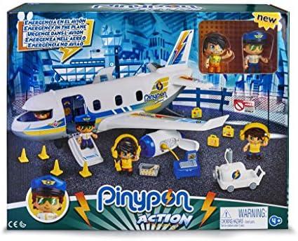 Pinypon Action - Pinypon Notflugzeug mit zwei Figuren und Zubehör für Kinder von 4 bis 8 Jahren (Famosa 700015149)