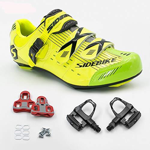 avec Fibre Route Fixation de amp; Carbone pour de Damping Anti Vélo de Chaussures de Pédale Cyclisme Chaussures vibratio Adultes SIDEBIKE nO7a6cWtn