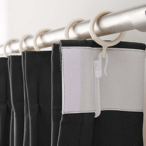 ChadMade Fireproof Flame Retardant Thermal Insulated Curtain Drapery Panel Pinch Pleat, Black 72'' W x 120'' L Home, Office, Hotel, School, Cinema Hospital (1 Panel), Exclusive by ChadMade (Image #4)