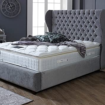 The Luxury Bed Co Chesterfield Aile Cadre De Lit Avec Tete De Lit
