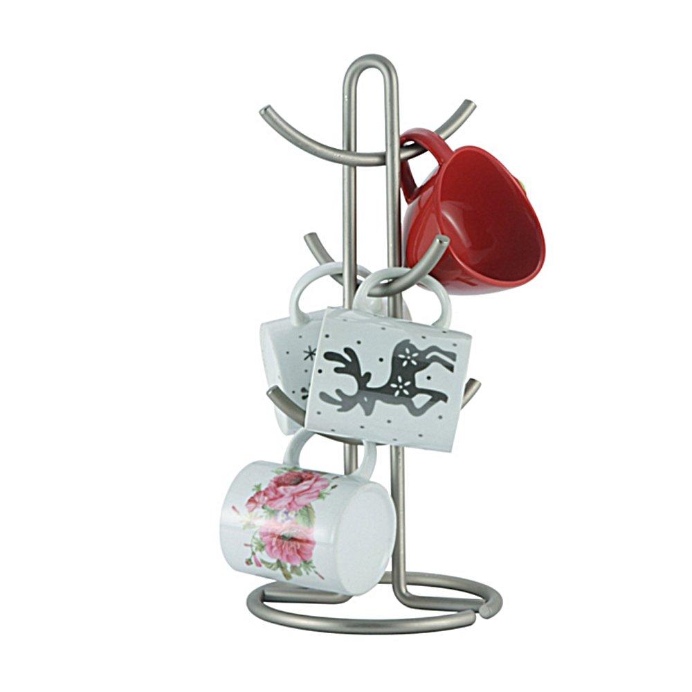 Euro Mug Holder Kitchen Accessories, Holds 6 Cups, Stain Nikckel, Stainless Steel