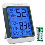 Image of ThermoPro TP55 Digital Hygrometer Indoor Thermometer Humidity Gauge with Jumbo Touchscreen and Backlight Temperature Humidity Monitor