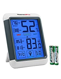 ThermoPro TP55 Digital Hygrometer Indoor Thermometer Humidity Gauge with Jumbo Touchscreen and Backlight Temperature Humidity Monitor BOBEBE Online Baby Store From New York to Miami and Los Angeles