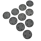 HUELE 100 Pcs Flower Pot Hole Mesh Pad Bottom Grid Mat Breathable Gasket for Bonsai 1.77''