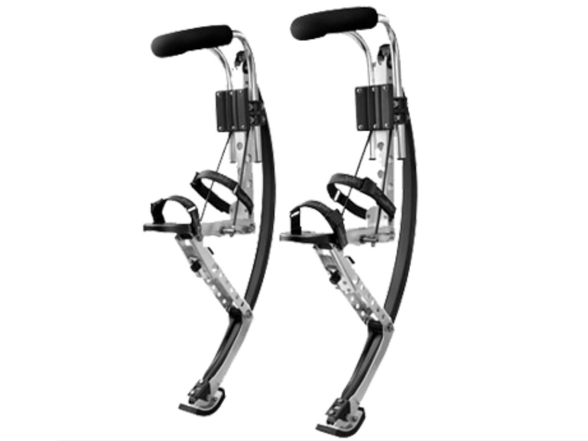 Adult Kangaroo Shoes Jumping Stilts Men Women Fitness Exercise (155~200 Ibs/70~90kg) Bouncing shoes (black) by Skyrunner