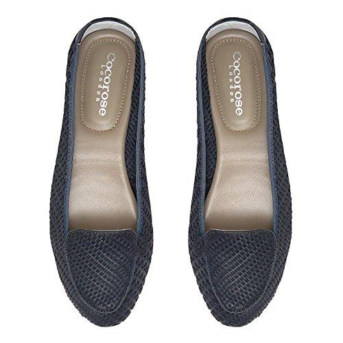 Cocorose Faltbare Leder Schuhe - Clapham Damen Ballerinas Leder Faltbare Navy Blau a31af5