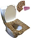 HFHM Paper Toilet Seat Covers Disposable - Potty Protection Travel Pack Flushable 50 Sheets (10 Bags)