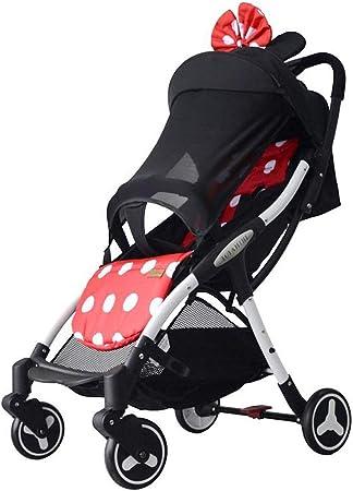 Opinión sobre Yxyxml El Carro de bebé, Cochecito de bebé Plegable de Peso Ligero de Cuatro Ruedas del Cochecito de bebé Gemelo (Color : Minnie)