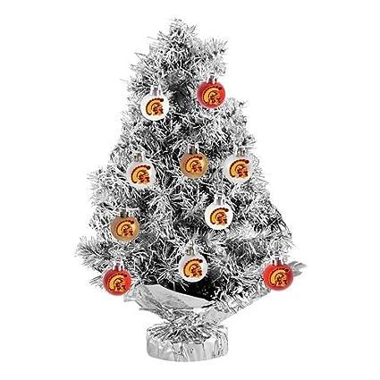 USC Trojans 11-pc. Tabletop Tinsel Christmas Tree and Ornament Set - Amazon.com: USC Trojans 11-pc. Tabletop Tinsel Christmas Tree And