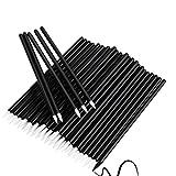 AMIZOB Pro Disposable Eyeliner Brushes Wands Applicator Makeup Kits (1000pcs, white head)