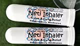 NETI INHALERS! SET of TWO (2) Sinus & Lung Relief. HIMALAYAN SALT AIR & Botanicals! Respiratory Wellness. Healing Ions, Aromatherapy. Energizing scent! Colds, Asthma, Cough, Bronchitis. 100% Natural