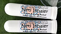 Provides relief when you breathe pure HIMALAYAN SALT AIR and Essential Oils! 100% Natural Product. Urban ReLeaf NETI Salt Air Relief INHALER Sinus and Lung! SET of TWO (2). For Respiratory Wellness, Colds, Asthma, Bronchitis. Breathe SALT AIR from an...