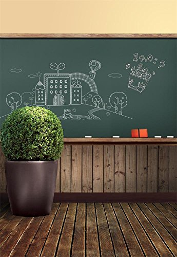 - Laeacco 3x5ft Vinyl Photography Background School Memorial Classroom Theme Blackboard Chalk Simple Drawing Blackboard Bonsai Vintage Wood Floor Scene Photo Studio Backdrop