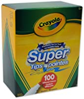 Crayola Super Tips Washable Markers, 100 Count, Bulk, Great for Kids and Adult Colouring,  Gift for Boys and Girls, Kids, Ages 3+, Summer Travel, Out of School Cottage Activties
