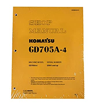 Komatsu GD705A-4 Motor Grader Workshop Repair Service Manual