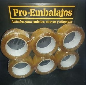 1 pack (6 rollos) cinta adhesiva en Polipropileno transparente 126 mts x 48 mm.: Amazon.es: Bricolaje y herramientas