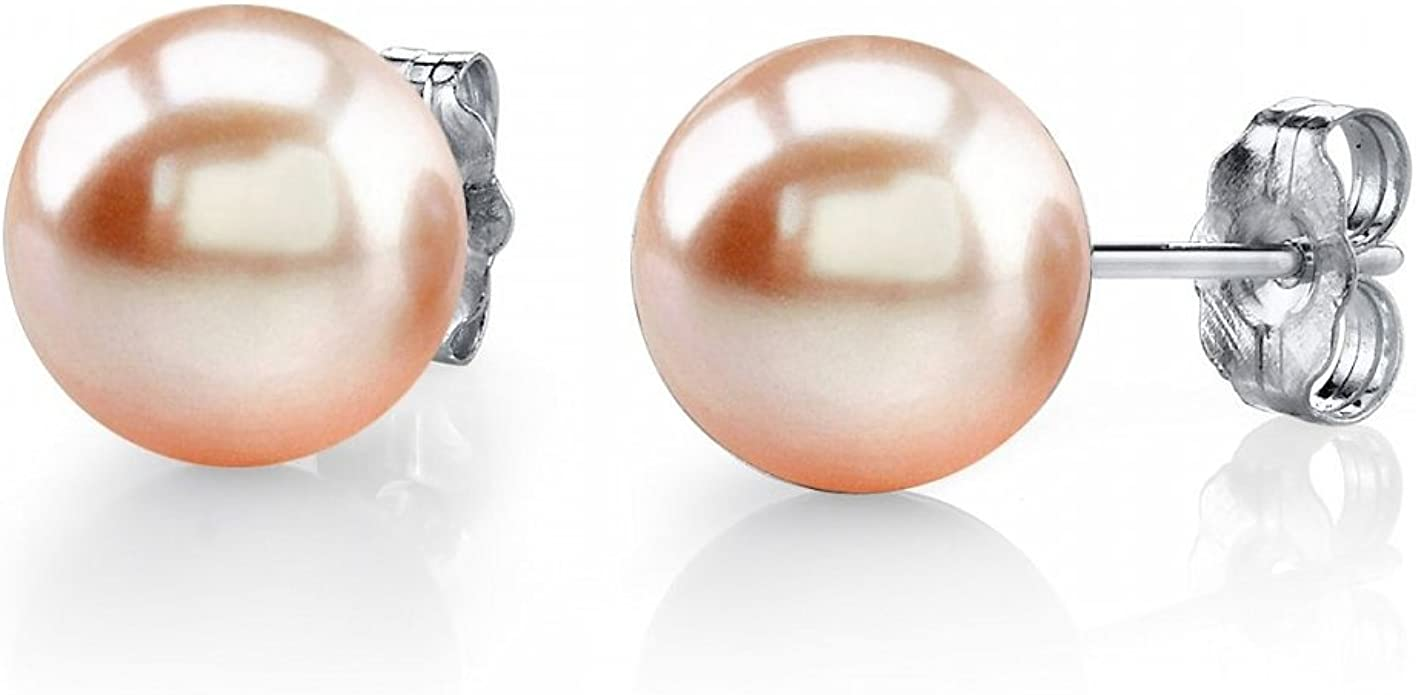 Freshwater Cultured Pearl Ball Stud Earrings 925 Sterling Silver Earrings for Women Korean Earings Fashion Jewelry