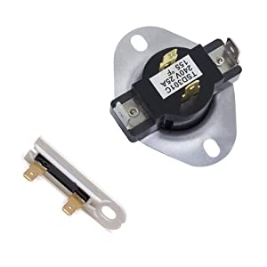 3387134 and 3392519 Cycling Thermostat & Thermal Fuse Replacement for Whirlpool Kenmore Major Dryers