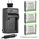 Kastar Battery (3-Pack) and Charger Kit for Fujifilm NP-50, Kodak KLIC-7004, Pentax D-Li68 and Fujifilm FinePix Cameras…