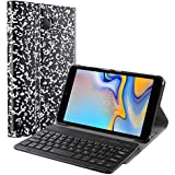 Galaxy Tab A 8.0 (2018) Keyboard Case, Exact Design Slim Shell Stand Cover w/Magnetically Detachable Wireless Bluetooth Keyboard Samsung Galaxy Tab A 8.0 (2018), Composition Book