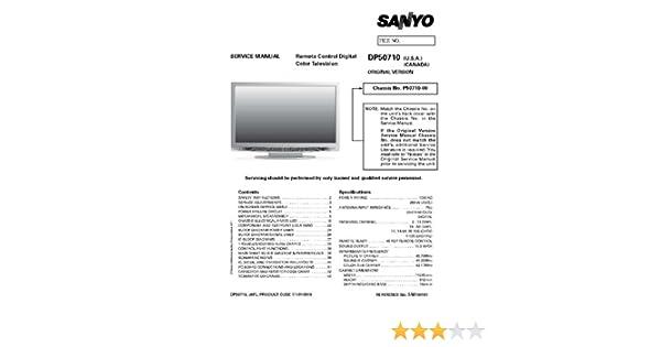 sanyo dp50710 service manual with schematics sanyo amazon com books rh amazon com Owner's Manual Instruction Manual Book