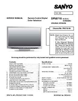 sanyo dp50710 service manual with schematics sanyo amazon com books rh amazon com