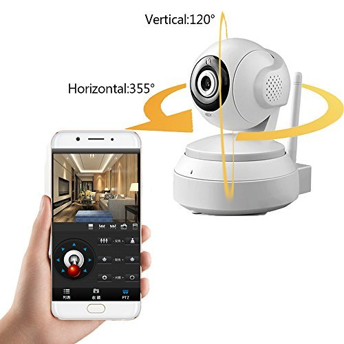 - Wireless Security IP Camera 720P HD Indoor Camera Home Monitor with Motion Detection Two-Way Audio, Night Vision for Baby Pet Monitor with Mircro SD Card Slot