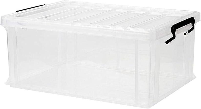 HUIQI Caja almacenaje Caja de Almacenamiento de plástico Grande Ropa del hogar Juguetes Caja de Almacenamiento Transparente (40L) Cajas almacenaje plastico (Size : 40L): Amazon.es: Hogar