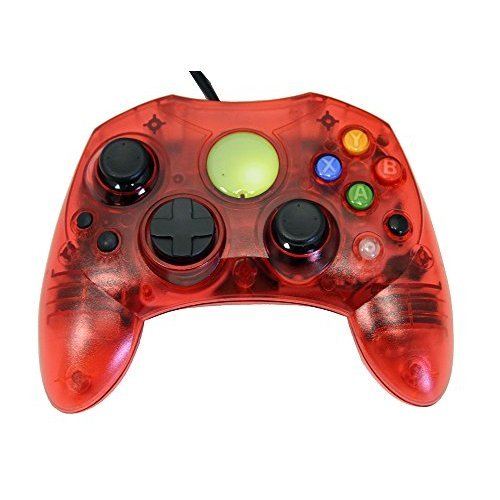 Cheap Replacement Controller for XBox Original – Red Transparent – by Mars Devices