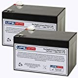 Invacare Lynx L-4 Portable 4-Wheel Scooter Battery - 12V 12Ah, F2 Terminal Replacement (Set of 2)