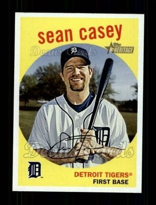 2008 Topps Heritage # 458 Sean Casey Detroit Tigers (Baseball Card) Dean's Cards 8 - NM/MT ()