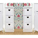 Pair of Slim White Cabinet with Heart Drawers by Sue Ryder
